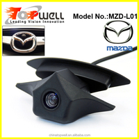 BLACK CAR LOGO FCC certification car security front view camera for Mazda