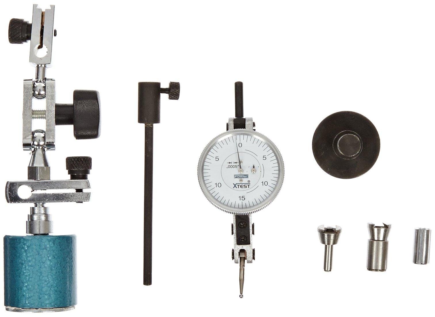 "Fowler 52-562-105 X-Test and Xtra-Mag Combo Indicator, 0.0005"" Graduation Interval, 0.060"" Maximum Measuring Range, 1.5"" Diameter"