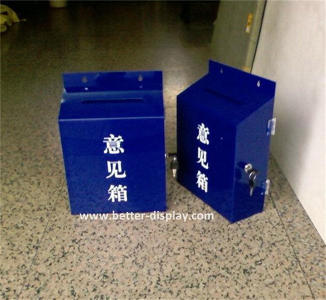 custom acrylic white acrylic suggestion box with brochure holder