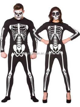 Skeleton Outfit Halloween.Mens Ladies Adult Unisex Skeleton Jumpsuit Costume Halloween Fancy Dress Outfit Agm3394 Buy Costume Skeleton Costume Halloween Costume Product On