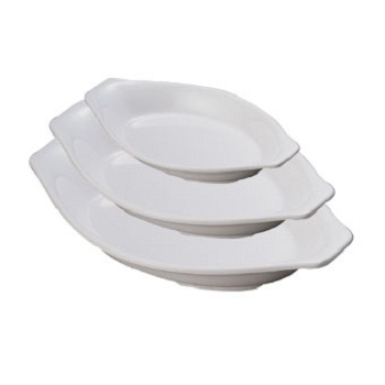 A5 melamine durable boat shape dessert plate for hotel