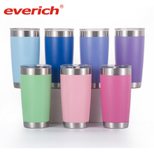 Grosir 20 Oz & 30 Oz Double Wall Vacuum Insulated Perjalanan Mug Tumbler Stainless Steel Gelas Anggur 20 Oz Stainless steel Tumbler