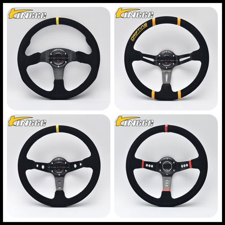Wholesale customized high quality 350 mm racing steering wheels with deep dish