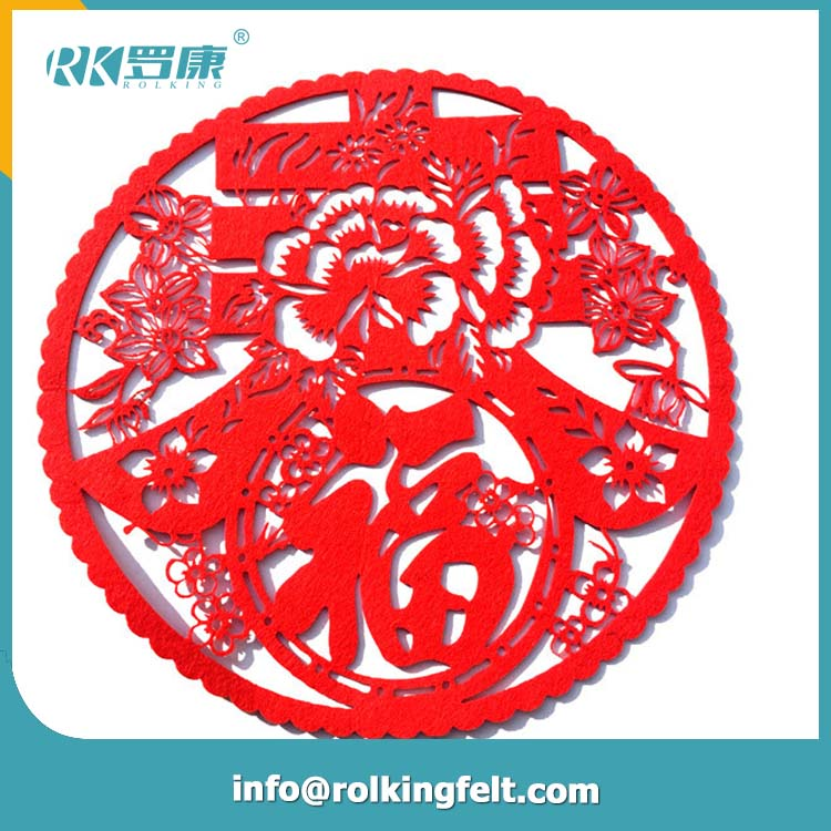 2017 Traditional Chinese New Year Party Door & Wall Felt Sticker Decoration For Spring Festival Celebration