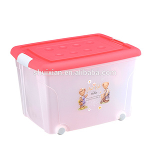 Whosale concise design 52L Plastic storage box Storage cube basket bin Plastic bin