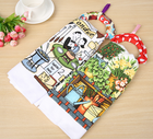 Printed Custom Tea Towel Manufacture Wholesale Cotton Custom Printing Kitchen Tea Towel