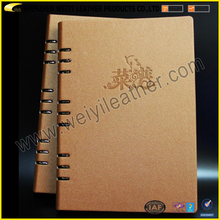 Multicolored Custom Material And Size Soft PU Leather Menu Covers For Restaurants Personal Use