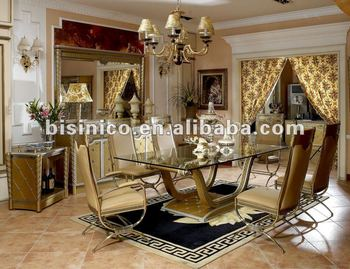 Luxury Classical Wooden Dining Room Furniture Set Mqo 1set