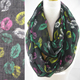 girl lip printed cheap infinity scarf