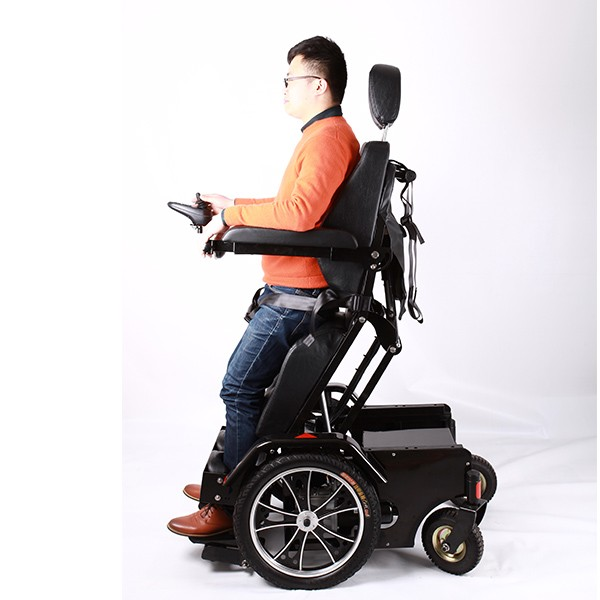 Luxury aluminum standing electric wheelchair for handicapped