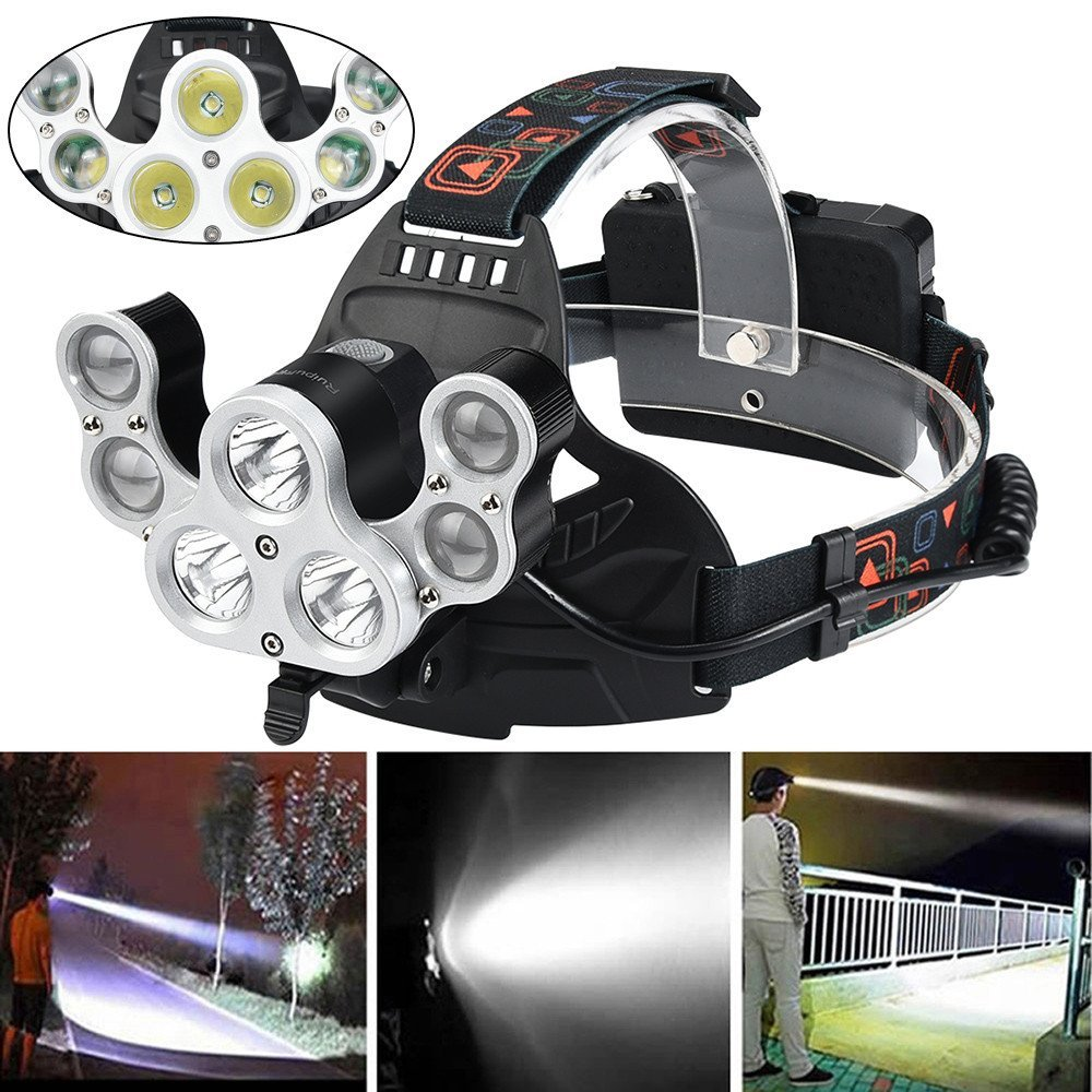 Waterproof USB Rechargeable Headlamp Motion Sensor Night Camping Hiking Torch