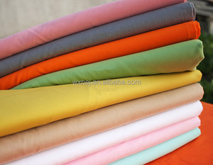 Factory Wholesale 100% Cotton / Poly cotton Solid Color Plain Bedding Fabric
