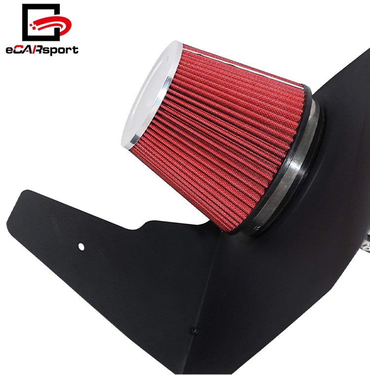 Chrome Cold Air Intake For 10-15 Camaro V8 6.2L Induction Kit Heat Shield Piping