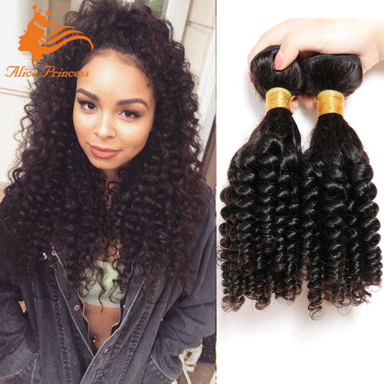 100 Remy Human Hair Latch Hook Hair Weave Natural Black Virgin