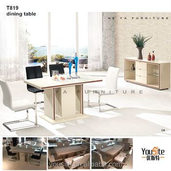 Alibaba China Market Space Saving Furniture Wooden Dining Table And Chairs