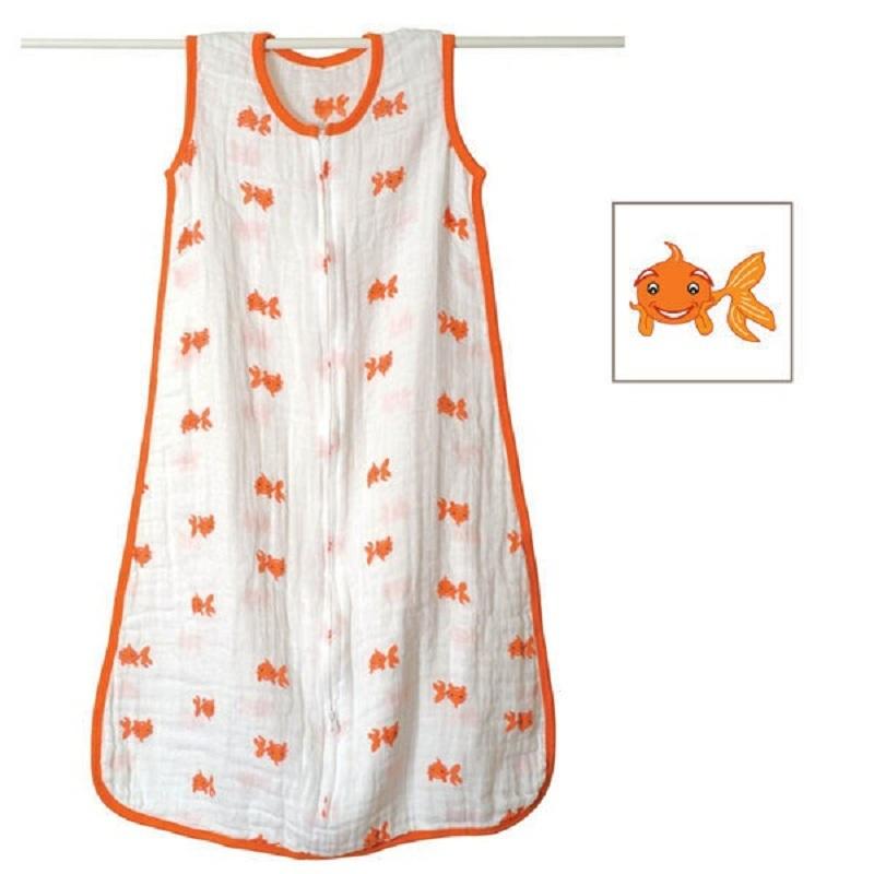 100% муслин хлопок аден Anais ребенка тонкий спальный мешок на лето 83 см длина 120 г с оригинальной двойной моя ярлык KF484
