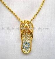 shoes pendant necklace