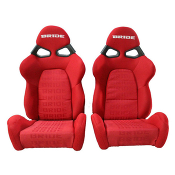 2 Pcs/Set High quality Sport Racing Car Seat Red Black FABRIC MATERIAL Auto Sports Racing Seats