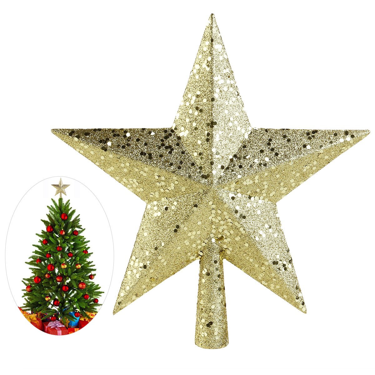 Cheap Gold Star Tree Toppers, find Gold Star Tree Toppers deals on ...