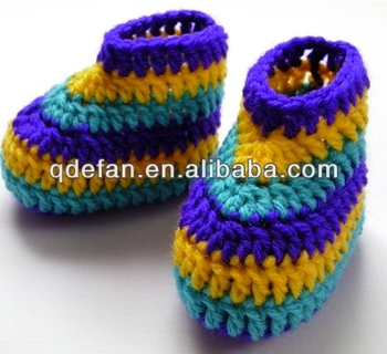 Crochet Baby Shoes Crochet Boots Bayi Laki Laki Sepatu Crochet