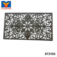 GARDEN RECTANGULAR CAST IRON DOOR MAT