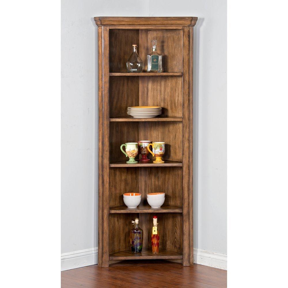 Get Quotations Sunny Designs Corner Curio Cabinet
