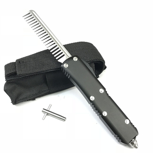 Wholesale display training toy folding butterfly knife comb knife