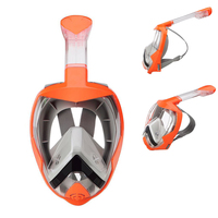 Head China Factory Liquid Silicone+pc Customized Color Go-pro Mount Unfolding Snorkel Set Underwater Diving Gear Dive
