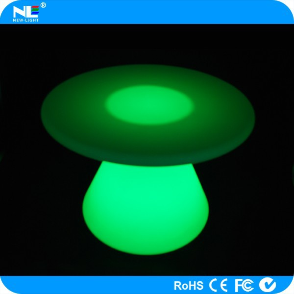 Electronic LED cool bar table / event decorative LED table light / plastic LED lighted round tables