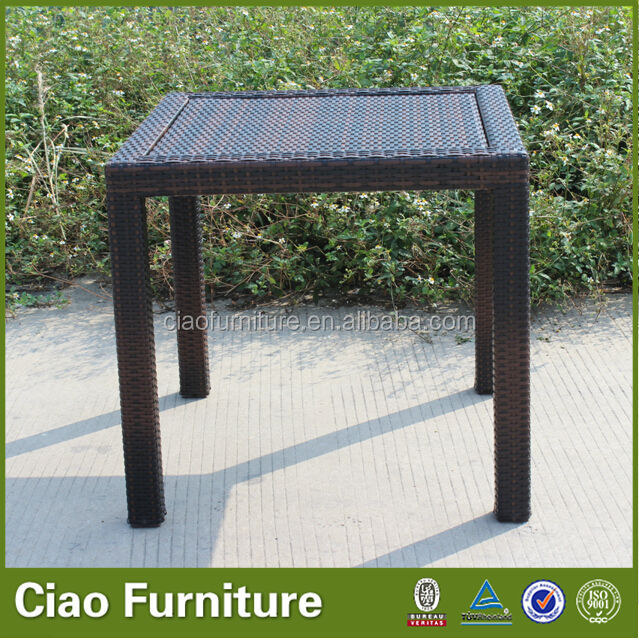 2013 New Style synthetic PE rattan outdoor table