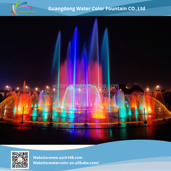 RGB Led Light Large Garden Water Fountains