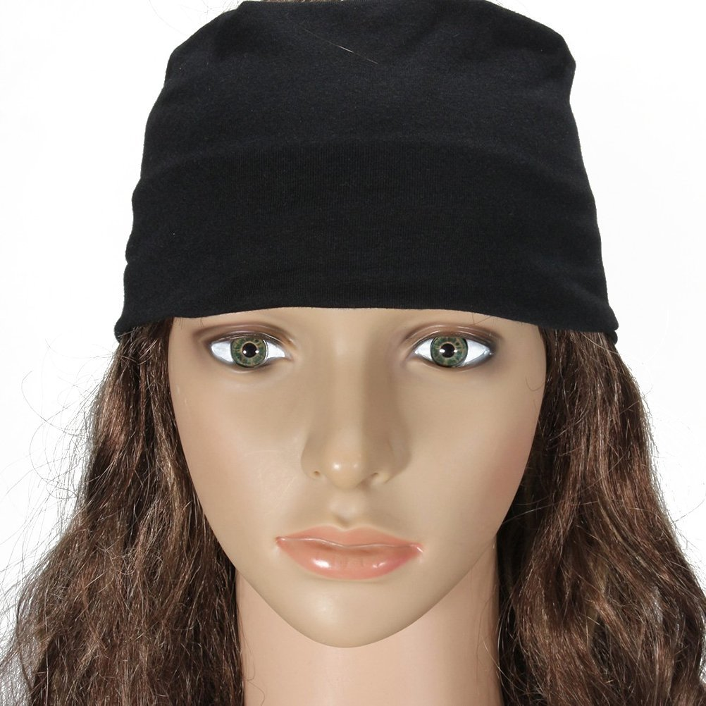 491aa694136 Get Quotations · Museya Durable Women s Girls Yoga Dancing Softball Sports Stretch  Headband Elastic Hair Band Turban (Black