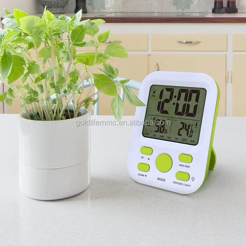 Portable Digital Alarm Clock con Temperatura e Umidità di misura strumenti