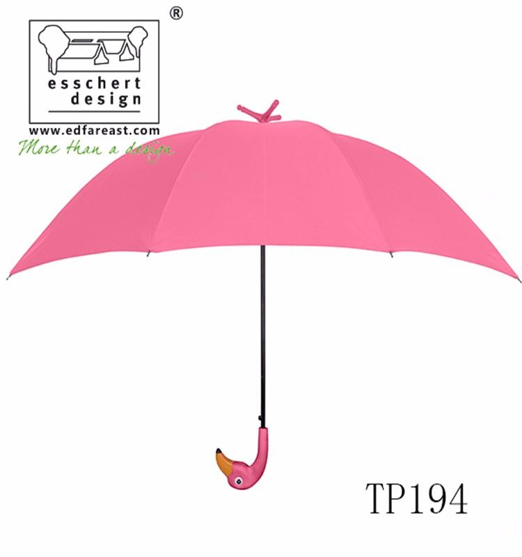 Unique Flamingo Shape Pink Color Beach Umbrella