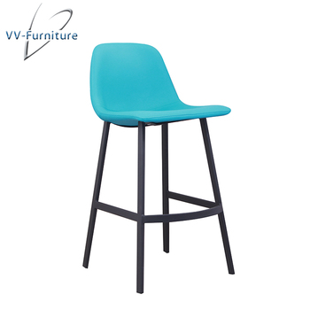 Brilliant Pu Seat High Back Metal Legs Industrial Bar Stool For Sale Buy Modern Industrial Bar Furniture Barstool Bar High Chair Product On Alibaba Com Machost Co Dining Chair Design Ideas Machostcouk