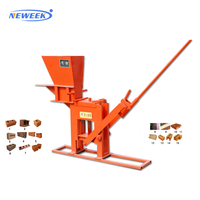 NEWEEK manual compressed earth hollow block machine cement brick making machine