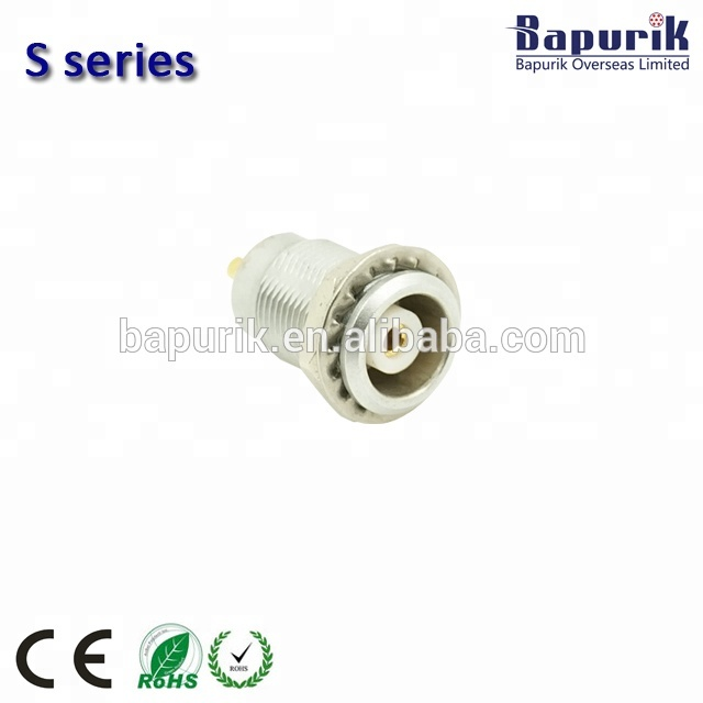 Audio vedio halvemaan S serie Push Pull metalen ronde connectoren 4 pin socket ERA.1S. 304.CLL solder type