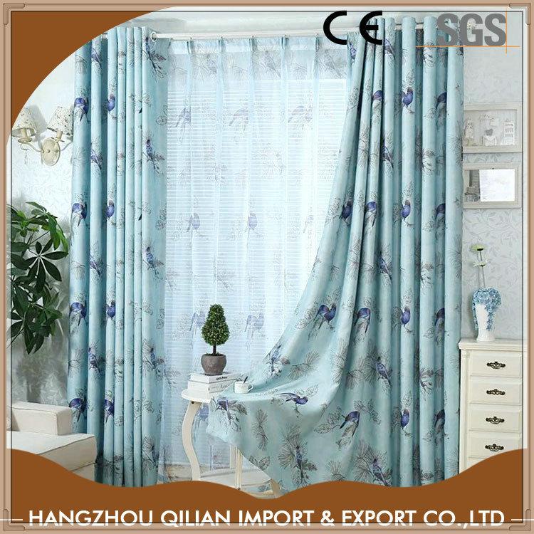oem hecho de encargo impresa cortinas para las ventanas grandes