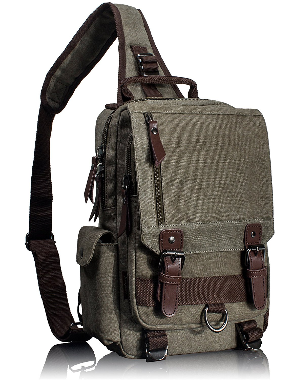 d2d4faeae37c Get Quotations · Leaper Cross Body Messenger Bag Shoulder Backpack Travel  Rucksack Sling Bag