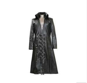 Hot selling men's gothic long leather coat