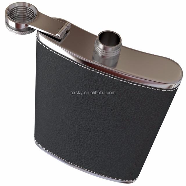 8 oz Pliant Bouteille D/'Alcool Whisky Tasse en acier inoxydable Hip ballon avec entonnoir environ 226.79 g