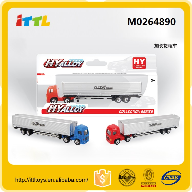 Newst china wholesale diecast container truck toy,hot sale metal container truck toy