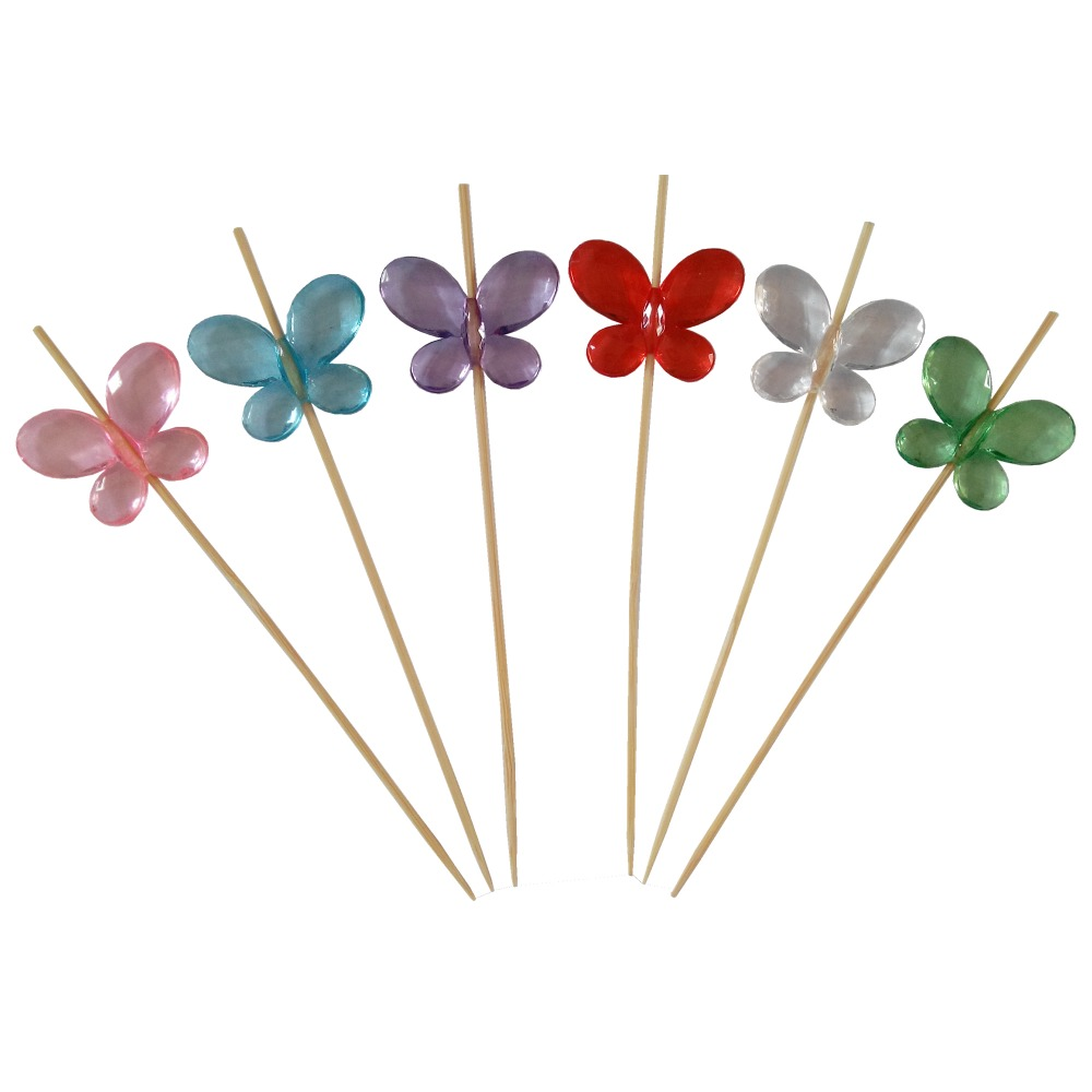 arts and crafts bamboo party food picks decorative picks butterfly decoration