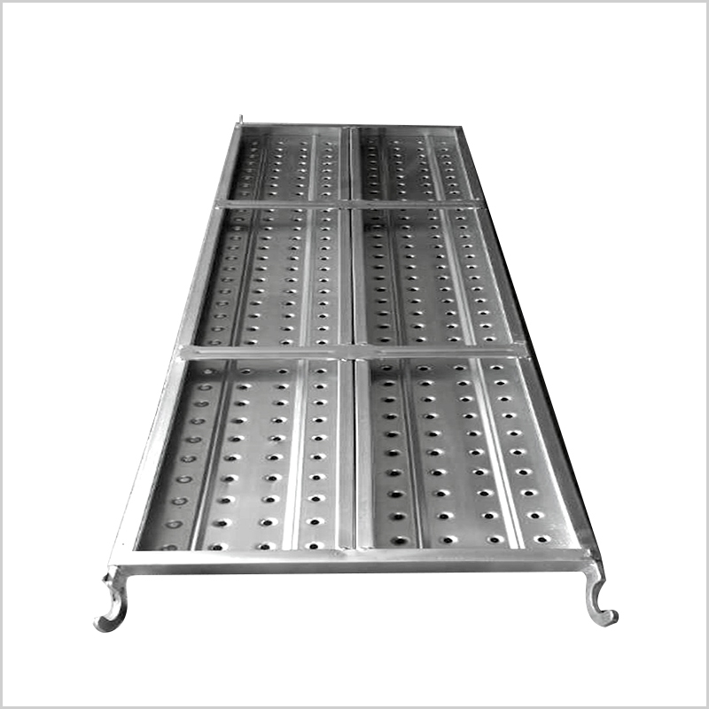 Punched Scaffolding Shoring Metal Plank With Hook