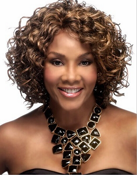 Cool Short Brown Curly Hair With Highlights Short Hair Fashions Short Hairstyles For Black Women Fulllsitofus