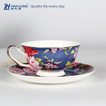 57ca7578e985b ... Cup Saucer Set Afternoon Milk Tea Cups Saucers Ceramic Gift Drop  Shipping Source · 220cc Vintage Flower Decaled Fine Bone China Coffee Cups  And Saucers
