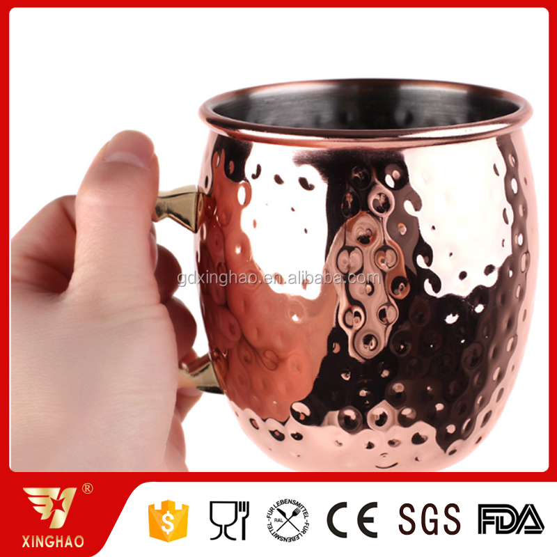 Hot Seller!!! Novelty Wedding Birthday Party Bar Cocktail Wine Beer Copper Mug