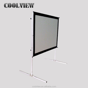 foldable projector fast frame 16:9 300 500 200 inch large outdoor Fast folding projection screen/portable projector screen