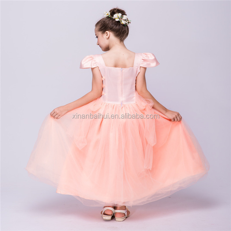 Alto grado vestido de novia princesa blanca vestido de noche 10 años ...