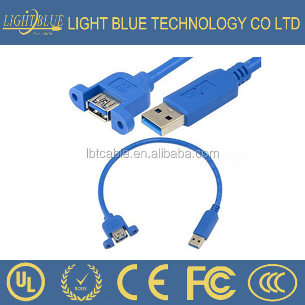 USB 3.0 male to USB 3.0 female with screw hole female to male extension data cable cord line link
